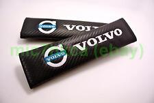 2x carbon fibre seat belt cushion cover shoulder pads for VOLVO (UK stock)