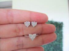 .59 CTW Diamond Earrings&Ring Set 14k White Gold JS91 sep