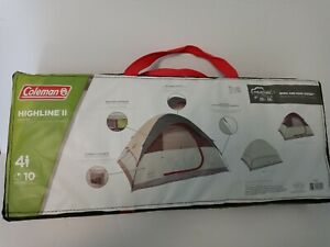 Coleman Highline 4-Person Dome Tent, 9 x 7 New . Rainfly included  Carrying case