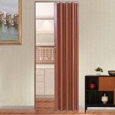 Foldable PVC Gloss Concertina Accordion Folding Door Indoor Internal Brown 6mm