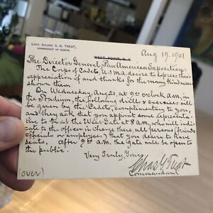 Pan-American Exposition 1901 Related invitation From West Point USMA Cadets