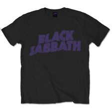 Black Sabbath T Shirt Wavy Logo Vintage Official Mens Unisex Ozzy Osbourne S