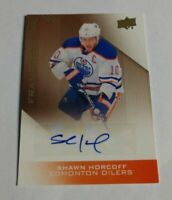 SHAWN HORCOFF - 2013 UPPER DECK OILERS - FRANCHISE INK - AUTOGRAPH -
