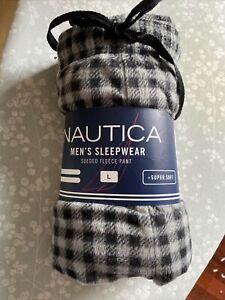 Men's Nautical Sleepwear Sueded Fleece Pants. New -  size large