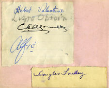DOUGLAS FOWLEY - SIGNATURE(S) CO-SIGNED BY: HUBERT VALENTINE FANSHAW