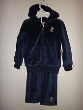 JUICY COUTURE~Girls Toddler 2PC JOG Set~Hooded Jacket~Blue VELOUR Cotton~12-18M