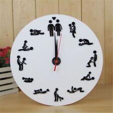 Kama Sutra Sex Position Clock 24 Hours Sex Clock Novelty Wall Clock 1 Piece