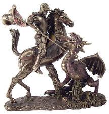 Saint George Slaying the Dragon Statue Sculpture Reproduction Figure HOME DECOR