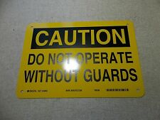 "NEW Brady 42402 Do Not Operate Caution Safety Sign 10"" x 7""  *FREE SHIPPING*"