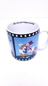 Walt Disney Mug Coffee Our Love Just Keeps Growing Daisy Donald Movie Frame Vtg