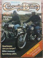 Classic Bike Magazine - February 1989 - Matchless v AJS 650s, Ducati Twins