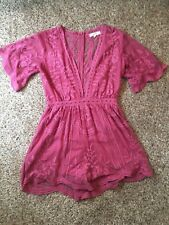355d0de6bf4e Pink Floral Deep V Romper Size S bought from a boutique