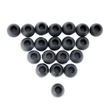 Small Black Replacement Silicone Ear Bud Tips Cover for In-Ear Earphone 20 Pcs