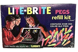 Vintage Original 1968 Lite Brite Pegs by Hasbro 350+ Original Box Good Free S&H