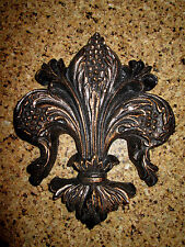 Fleur de Lis Wall Plaque Old World Tuscan Medieval French Country Cross Decor