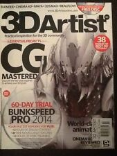 "3D Artist Magazine ""CG Mastered"" w/Free Disc Issue 60 2014"