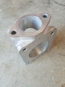 T4 Wastegate Adapter, 2 bolt 90 degree wastegate flange, cermatec hitemp coating