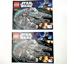LEGO STAR WARS  #7965 (MANUALS ONLY) MILLENNIUM FALCON INSTRUCTIONS  (1 & 2)