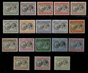 DOMINICA 1923-1933 COMPLETE MINT SET