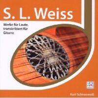 KURT SCHNEEWEISS - ESPRIT-S.L.WEISS-GITARRENSONATEN  CD NEW