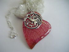 Game of Thrones Khaleesi Dragon Vein Heart Necklace Daenerys Targaryen Sigil 333