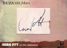 The Wicker Man Ultra Rare Ingrid Pitt Cut Auto Card WMIP10 Unstoppable Cards