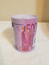 500 EURO TIN CAN COIN MONEY BANK (Jumbo) **Cute ~ Great Gift ** Piggy Bank