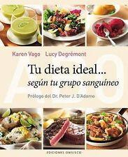 NEW Tu dieta ideal segun tu grupo sanguineo (Spanish Edition) by Karen  Vago