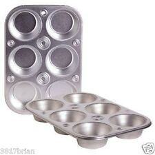 6 Cup Heavyweight Steel Bakeware Muffin Cooking Pan Baking Muffins & Cupcakes