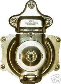 TRUNK REPAIR PARTS BRASS PLATED LOCK D3835