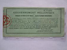 Railway Greek Government Document Chemin de Fer Ottoman Saloniki Istanbul 1932