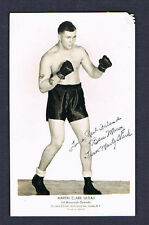 Rare 1940's Martin Clark boxing signed photo Brooklyn Ny autographed Marty Monte
