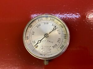 "VINTAGE CROSBY STEAMGAGE & VALVE CO TEST "" GAGE "" PRESSURE GAUGE SCREW ON COVER"