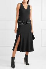NWT ALEXANDER WANG Embellished silk-charmeuse peplum midi dress size 0 $795