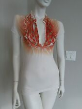 A BRAND adorable supersonic tee top ruffled neckline sz S-M
