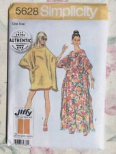 1970s Authentic Caftan Flowing Style! Sewing Pattern Simplicity 5628 One Size