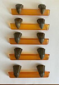 Set Of 5 Vintage Art Deco Apple Juice Bakelite Dresser Drawer Handles Pulls
