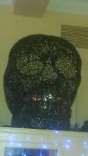Skull head 4ft large metal patterned. Charcoal colour. Nearly brand new.