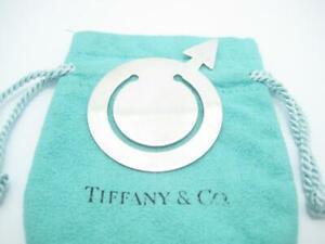 Tiffany & Co. Sterling Silver Male Symbol Bookmark - Pouch