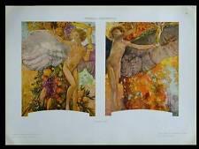 ENFANTS, ANGES, ART NOUVEAU -1910- PHOTOLITHOGRAPHIE, GALILEO CHINI