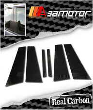 CARBON FIBER DOOR PILLAR PANEL COVERS 6 PCS for MERCEDES BENZ W204 SEDAN C-CALSS