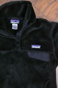 Patagonia Re-Tool Fleece Snap-T Pullover Black Women's Small S