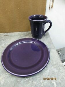 henn pottery cup and plate