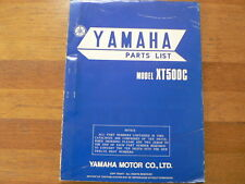YAMAHA PARTS LIST MODEL XT500C 1976 MOTORCYCLE MOTORRAD BIKE XT 500 C