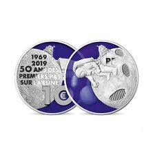 10 euro France 2019 argent BE – 50 ans des premiers pas sur la lune