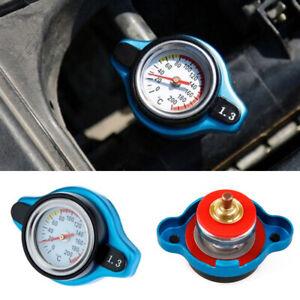 Car Thermostatic Radiator Cap 1.3 Bar Water Temperature Gauge Cover Accessory
