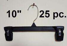 "25 Black Plastic kids baby pinch grip skirt pants Hanger 10"" Display 6010 bottom"