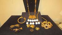 Vintage 7 Pc Signed Designer Jewelry lot Pauline Rader, Donald Stannard Trifari