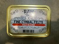 Raw Fine Cymbal Felts x10 / Red / Cymbal Stand Felts / Accessory