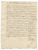 1738 KING LOUIS XIV Marquess signed JUSTICE application manuscript document